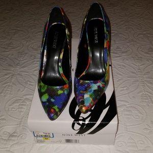 """Nine West 4"""" multi color heels"""